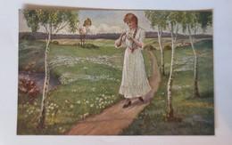 Künstlerkarte, Frauen, Mode, Liebesorakel,  1910, Rud, Schneider ♥ (50702) - Illustrateurs & Photographes
