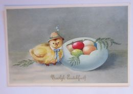 Ostern, Küken, Ostereier,   1930 ♥  - Pâques