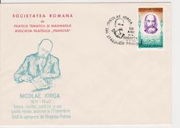 NICOLAE IORGA WRITER HISTORIC ROMANIA SPECIAL COVER - Escritores