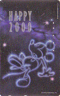 TC Argent JAPON / 110-208303 - DISNEY N° 7 - NOUVEL AN NEW YEAR 2000 - MICKEY - JAPAN SILVER Phonecard - Disney