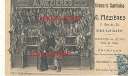 72 // SABLE SUR SARTHE   Devanture Maison MEZIERES   Gibier  Primeurs CREMERIE SARTHOISE ** - Sable Sur Sarthe