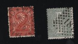 1863 / 65 Freimarke Mi IT 23 - 24 Yt IT 12 - 13 Sg IT 8 -9 Sas IT 14 - 15 Un IT 14 - 15  Bol:IT 68A - 69A - Gebraucht