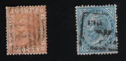 1867 April Freimarke Mi IT 26a - B Sn IT 35i - 35 Yt IT 23 - 23a Sg IT 20a - 20 - Gebraucht