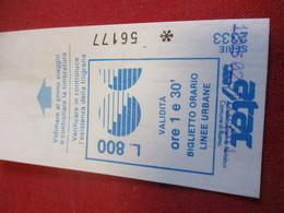 BUS/ 1  Ticket Ancien Usagé/ATAC /Azienda Tranvie Autobus Comune Di ROMA/ ROME/Octobre 1991           TCK138 - Bus