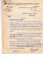 Courriers 1938 Guerre D' Espagne Saint Nazaire Compagnie Générale Maritime Consulat Nantes - Documentos Históricos