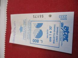 BUS/ 1  Ticket Ancien Usagé/ATAC /Azienda Tranvie Autobus Comune Di ROMA/ ROME/Octobre 1991           TCK139 - Bus