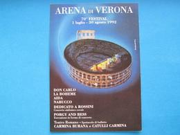 ARENA DI VERONA 70° FESTIVAL 1992 NV - Publicité