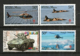 MEXIQUE.Forces Armées Mexicaines : Tank, Helicoptères Bell,Alouette III.Chasseur: Northrop Freedom Fighter .  4 Neufs ** - Helikopters