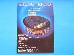 ARENA DI VERONA 73° FESTIVAL 1995 NV - Publicité