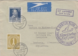 Allemagne Zone AAS Lettre Par Avion Pour Le Transvaal 1948 - Zone AAS
