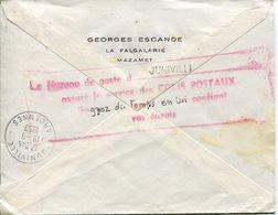 Ardennes. JUNIVILLE. 1959. Cachet Colis Postaux Au Bureau - Marcofilie (Brieven)