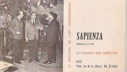 NICE     CARTE Publicitaire SAPIENZA Le Tailleur Des Vedettes Pas Carte Postale - Andere