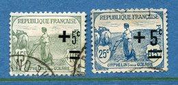 France - YT N° 164 Et 165 - Oblitéré - 1922 - Oblitérés