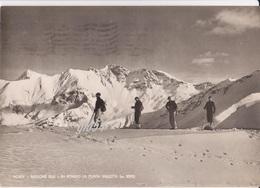 Aosta Pila In Fondo La Punta Valletta Sciatori Fg - Italy