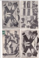 LE CREUSOT 71 SOUVENIR DU CREUSOT UNE PHOTO INVERSEE LOT DE 4 BELLES CARTES  RARE !!! - Le Creusot