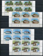 Kiribati Mi# 349-52 Control Blocks Postfrisch MNH - Postal Service - Kiribati (1979-...)