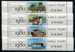 Kiribati Mi# 349-52 ZD Zf Postfrisch MNH - Postal Service - Kiribati (1979-...)
