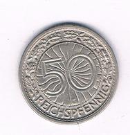 50 PFENNIG 1928 G   DUITSLAND /1518/ - [ 3] 1918-1933 : Republique De Weimar
