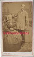 CDV Couple Origine Modeste-photo Canuel, Artiste Professeur Photographe à PONTOISE - Old (before 1900)