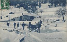 74 CHAMONIX MONT BLANC SPORT D HIVER SKIEURS TIRES PAR UNE CALECHE SUR LA ROUTE DES PRAZ Editeur ARTIGE FILS - Sport Invernali
