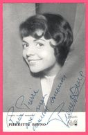 Photo Dédicacée - Autographe - Célébrité - PIERRETTE BRUNO - Cinéma - Chanteuse - Photo CLAUDE POIRIER - Disques PATHE - Autographs
