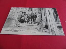 02 Taube Passe Sur  CHATEAU THIERRY Guerre 14-18 Kultur  Un Civil Tué Edit Bouvigny Circulee 1916   Aisne - Chateau Thierry