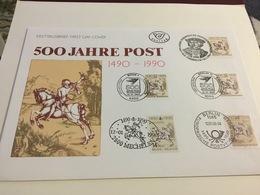60000 Enveloppe Luxe Souvenir - Cs - Hk 2350 - Liaison Postale Européenne Innsbruck-Malines - émission Commune Albrecht - 1981-90