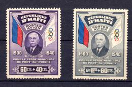 Haiti 1939, Construction Du Stade De Port-au-Prince, PA 12-13**, Cote 115 €, - Haïti