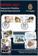 VALLADOLID. EXFIVAL 2017. TARJETA PREFRANQUEADA ESPAÑA. TARIFA A. ENTERO POSTAL. Postcard Paid Postage. - Enteros Postales