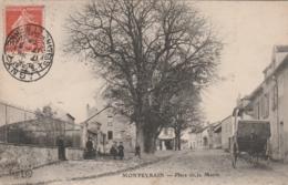Montevrain  - Place De La  Mairie  - Scan Recto-verso - Frankreich