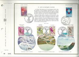 1 Feuille D'album Avec 6  1er Jours    SERIE JO D'hiver 1968 - FDC