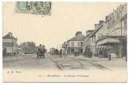 91-MONTLHERY-La Route D'Orléans...1905  Animé - Montlhery
