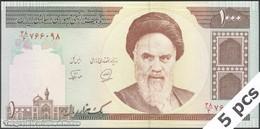 TWN - IRAN 143b - 1000 1.000 Rials 1994-2003 DEALERS LOT X 5 - Series 55/3 - Signatures: Noorbakhsh & Khan UNC - Iran