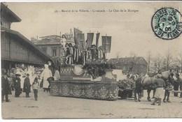 CPA PARIS XIX ème Arrondt    Abattoirs -Marché De La Villette -Cavalcade -Le Char De La Musique N°49 - Arrondissement: 19
