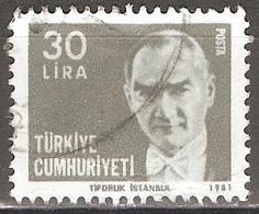 Turquie - 1981 - Atatürk - YT 2331 Oblitéré - 1921-... Republiek