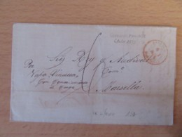 Espagne - Lettre Cartagena Vers Marseille - Cachet Rouge Espagne Marseille + Taxe 6 - 1873 - Lettres & Documents