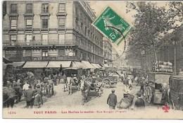 CPA PARIS Ier Arrondt TOUT PARIS Les Halles Le Matin Rue Berger N°1234 F Fleury - Arrondissement: 01