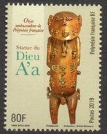 Polynésie Française 2019 - Arts, Statue Du Dieu A'a - 1 Val Neuf // Mnh - French Polynesia