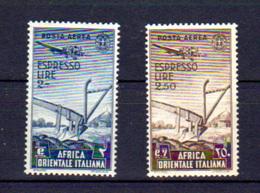 Afrique Orientale Italienne 1938, Charrue, PA 12 / 13*, Cote 10 € - Italian Eastern Africa