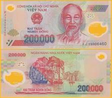 Vietnam 200000 (200,000) Dong P-123 2019 UNC Polymer Banknote - Vietnam
