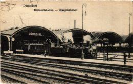 CPA AK Dusseldorf- Eifahrtshallen, Hauptbahnhof GERMANY (1002719) - Düsseldorf