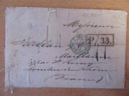 Russie (Empire) - Lettre Moscou Vers Maillane (Bouches-Du-Rhône) - Cachet Bleu Empire Russe Valenciennes - 1862 - Lettres & Documents