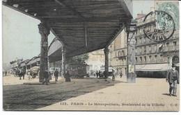 CPA PARIS XIX ème  Arrondt Le Métropolitain-Boulevard De La Villette - Arrondissement: 19