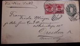 O) 1902 CUBA - CARIBBEAN, ROYAL PALMS - TREE - SC 228, POSTAL STATIONERY COLUMBUS - COLON 1c Green, VIA NEW YORK TO GER - Briefe U. Dokumente