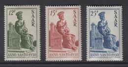 Saar 1950 Heiliges Jahr  Hl. Petrus Satz 3 Werte Mi.-Nr. 293-295 **  - Deutschland