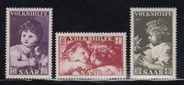 Saar 1953 Volkshilfe Gemälde Satz 3 Werte Mi.-Nr. 344-346 **  - Deutschland