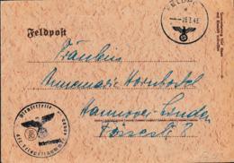 German Feldpost WW2: From Chateauroux In France - Kreiskommandantur  990 FP 04169 And Cachet From 1. Zug Sanitäts - Seconda Guerra Mondiale