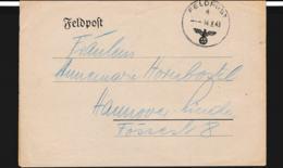 German Feldpost WW2: From Chateauroux In France - Kreiskommandantur  990 FP 04169 P/m 14.8.1943 - Letter (G108-13A) - Seconda Guerra Mondiale