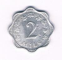 2 MILS 1972 (mintage 43000ex) MALTA /1521/ - Malta