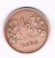1/2  KOBO 1973  NIGERIA /1525/ - Nigeria